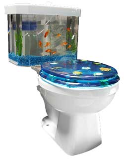 Fish n Flush Aquarium Toilet Tank