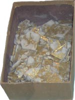 Gold Laced Quartz Slab Display